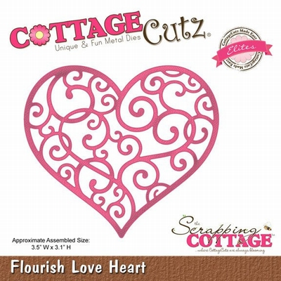 CottageCutz Flourish Love Heart (Elites) (CCE-089)