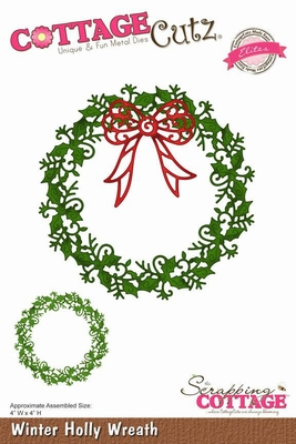 CottageCutz Winter Holly Wreath (Elites) (CCE-044)