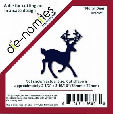 Die-Namites Floral Deer (DN-1219)