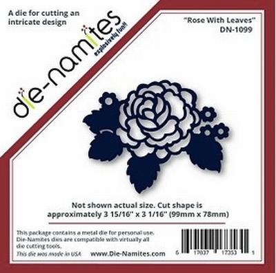 Die-Namites Rose With Leaves (DN-1099)