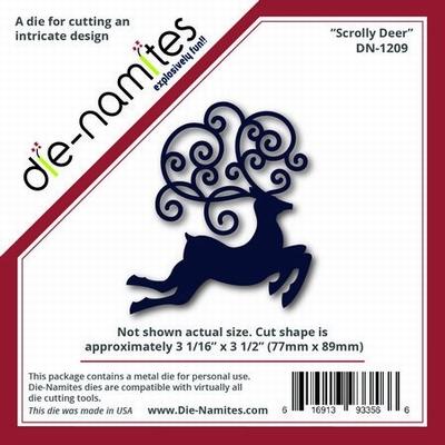 Die-Namites Scrolly Deer (DN-1209)