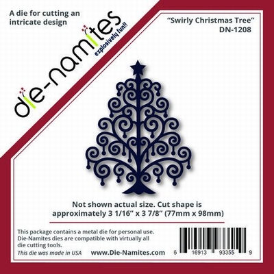 Die-Namites Swirly Christmas Tree (DN-1208)