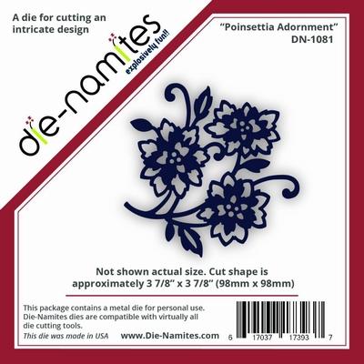 Die-Namites Poinsettia Adornment (DN-1081)