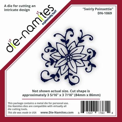 Die-Namites Swirly Poinsettia (DN-1069)