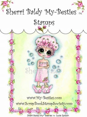 Susie Splash Clear Rubber Stamp