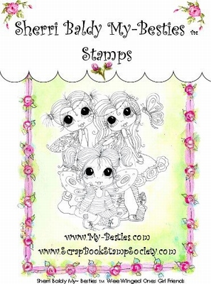 Wee Winged Ones Girl Friends Clear Rubber Stamp