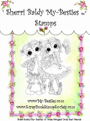 Wee Winged Ones Best Friends Clear Rubber Stamp