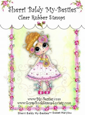 Sweet Mary Lou Clear Rubber Stamp