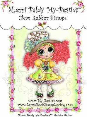 Maddie Hatter Clear Rubber Stamp