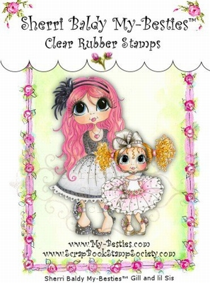 Gill & Little Sister Clear Rubber Stamp