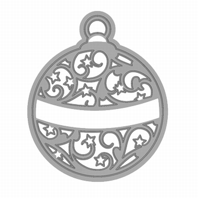 Rococo Christmas Round Bauble