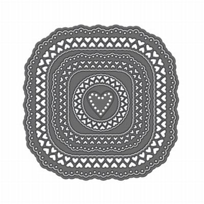 Tonic Simplicity Verso Love Arch Vierkante Mal, 7 stuks