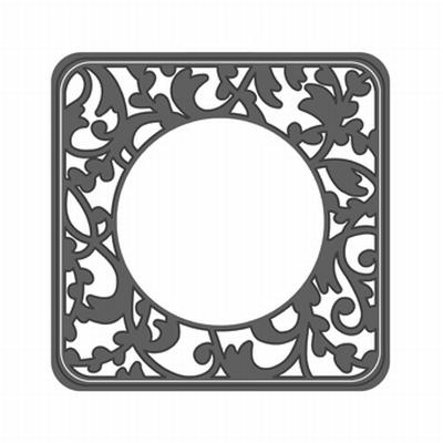 Tonic Round Window Tea Party Vk Basis Stans Set, 2 stuks