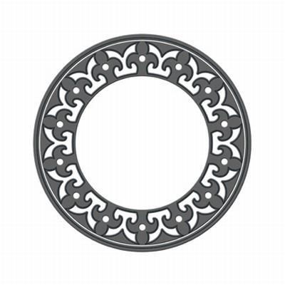 Tonic Round Window Florid  Rond Basis Stans Set, 2 stuks