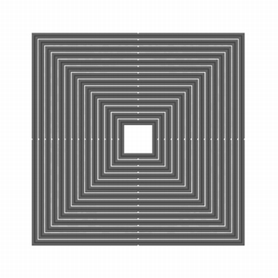 Tonic Nesting Square Die set, 14 stuks op magneetvel,