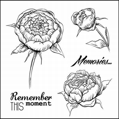 Set Of Clear Stamps 10,5x10,5 cm Afternoon Tea Memories