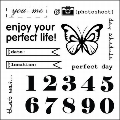 Set Of Clear Stamps 10,5x10,5 cm Every Day Numbers