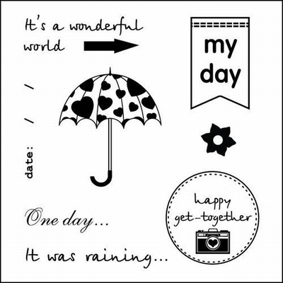 Set Of Clear Stamps 10,5x10,5 cm Every Day My Day
