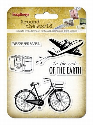 Set Of Clear Stamps 10,5 x 10,5 cm Around The World Best Tra