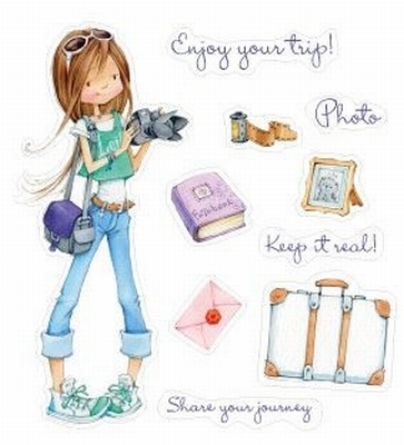 Set Of Clear Stamps 10x11 cm Enjoy Your Trip!