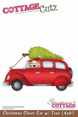 CottageCutz Christmas Cheer Car With Tree (CC4x6-140)