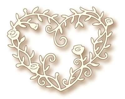 Specialty die - Heart Rose Vine
