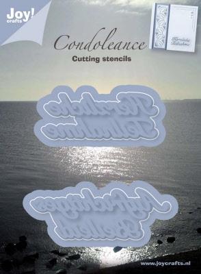 6002/0240 Snijstencil Condoleance DE 2st