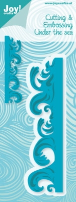 6002/0330 Snij-en Embossing stencil Wave - rand golven