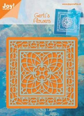6002/0313 Snij-en Embossing stencil vierkant bloem (2st)