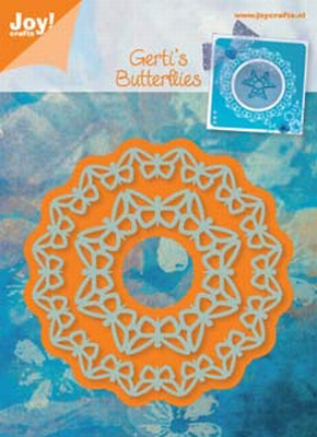 6002/0312 Snij-en Embossing stencil cirkel vlinder (2st)
