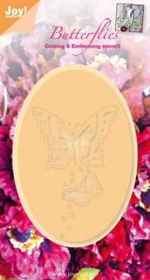 6002/0276 Snij- en emboss stencil vlinders