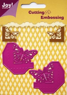 6002/0127 Cutting & Embossing stencil hoekjes vlinder