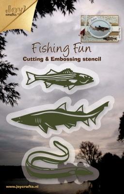 6002/0334 Cutting & Embossing stencil - vis, haai, aal