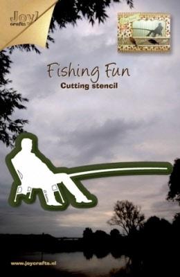 6002/0153 Cutting & Embossing stencil visser zittend