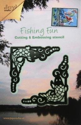 6002/0188 Cutting & Embossingmal - Fishing Fun hoekjes (link