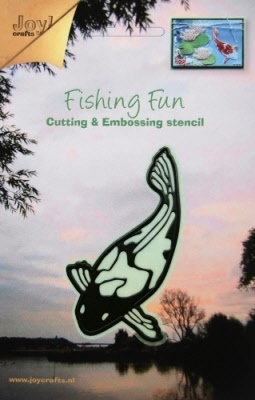 6002/0190 Cutting & Embossingmal - Fishing Fun koi-karper