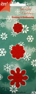 6002/2001 Cutting & Embossing stencil 3 sneeuwklokken