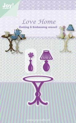 6002/0339 Cutting & Embossingstencil tafel/vaas/lamp