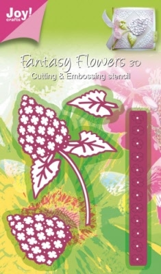 6002/0181 Cutting & Embossingstencil - Fantasy Flowers 3D bl