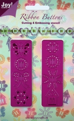 6002/0131 Cutting & Embossingstencil 2 liniaaltjes knoopjes