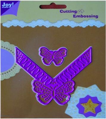 6002/0040 Cutting & Embossingstencil vlinderhoek