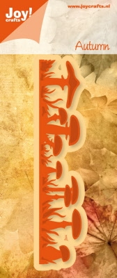 6002/0317 Snij-en Embossing stencil rand paddestoelen