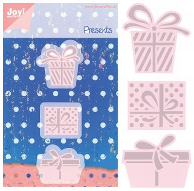 6002/0350 Cutting & Embossing stencil - Presents