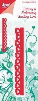 6002/0253 Cutting & Embossingmal - Sending Love - Rand