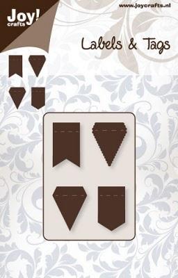 6003/0028 Cutting mal - Labels & Tags - Vlaggetjes