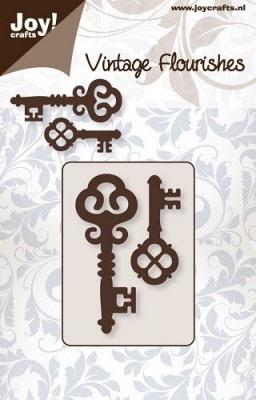 6003/0039 Cutting mal - Vintage Flourishes - Sleutels (2st)