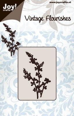 6003/0032 Cutting mal - Vintage Flourishes - Bloem/bladeren