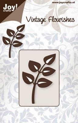6003/0027 Cutting mal - Vintage Flourishes - Tak bladeren (d