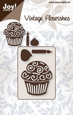 6003/0021 Cutting mal - Vintage Flourishes - Cupcake