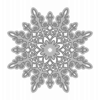 Rococo Christmas - Snow Crystal Die